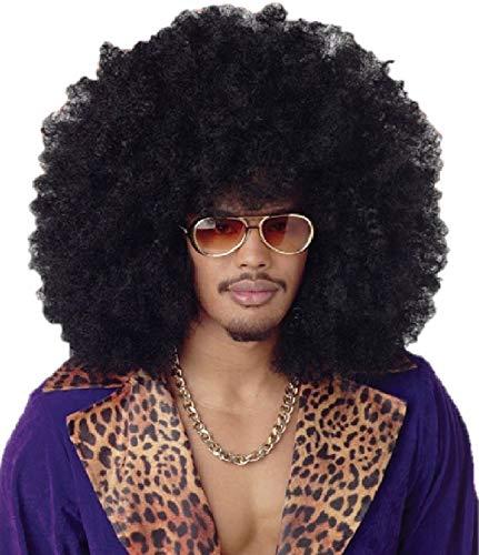 Balinco 260g XXL Afro PERÜCKE Lockenkopf Wig Black Afroperücke Lockenperücke Fasching Karneval schwarz