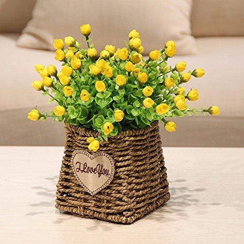 ZJJJH Kunstmatige decoratieve bloemen Tuindecoratie geel van de kunstmatige bloem van de landelijke kunst XCZHJ-bloemenproducten omvat: Kunstbloemen & -planten, bloemen, planten, bloemendecoratie, struisjes & kransen.