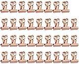 ZHAOJ Clips de Papel de Bulldog, Paquete de 35, Clip de Bulldog, Clips Plegables, Clips de Archivo Grandes, Clips de Metal para Carpetas, Clip de Cuaderno para Etiquetas, Bolsas, Fotos, Clip Decor
