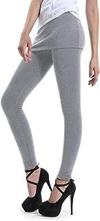 d650b51e8f OCHENTA Women's Thermal Winter Fleece Lined Pants Skinny Skirt Leggings  Tights