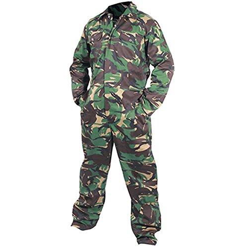 Mono de camuflaje militar DPM Paintball caza Woodland Camouflage Verde/Marrón/Piedra XL