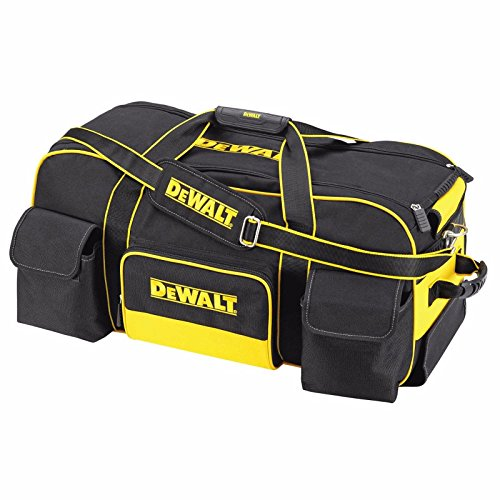 Dewalt DWST1-79210 Duffel Trolley Bag with Wheels, Yellow/Black, Large 26-Inch