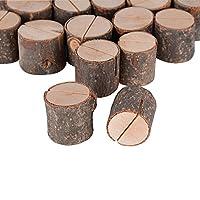 Achtung: Legen Sie sie an einem belüfteten Ort ab: In Umgebungen mit hohen Temperaturen oder hoher Luftfeuchtigkeit können Holzprodukte Schimmel bilden. Höhe: ca. 3,2 cm; Durchmesser: ca. 2,5 - 3,5 cm Ingesamt 20 stück Kartenhalter im Paket. ( ohne K...