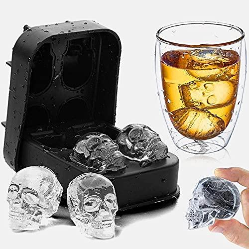 -3d bandejas de cubitos de hielo, creador de cubitos de hielo de molde de silicona, reutilización de alta calidad, bandeja de hielo más sanitaria para congelador, BRICOLAJE Herramienta Whisky Wine Co