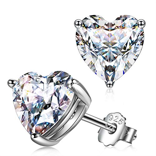 Swarovski Heart Shaped Sterling Silver Earrings $14.50 (50% OFF Coupon)