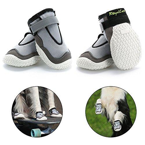 RoyalCare Botas para perros Paw Protector, Juego de 4 zapatos para perros...