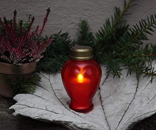 Best Season Display LED – Memorial Candle 15 cm, lumière vacillante
