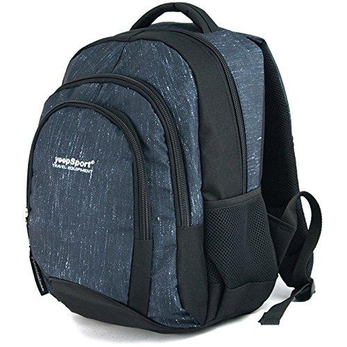 YeepSport Schulrucksack für Schule, Rucksack für Arbeit und Freizeit 30l, Jugendliche Mädchen und Jungs - 21811 Jeans Blue