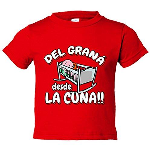 Camiseta niño del Graná desde la cuna Granada fútbol - Rojo, 12-14 años
