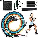 Rubyu - Set de 11 piezas para fitness en casa, equipo elástico, para puller, cuerda, musculatura (color aleatorio)