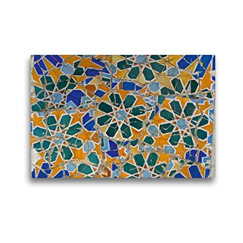 CALVENDO Premium Textil-Leinwand 45 x 30 cm Quer-Format Mosaiken in Barcelona, Leinwanddruck von Nicola Furkert