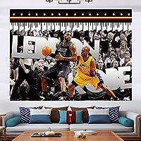 ジェームズ#23タペストリーの壁掛けポスター、フリースバスケットボールの壁タペストリー背景の布、リビングルームの寝室の寮の家のための壁の装飾 G-200*150CM