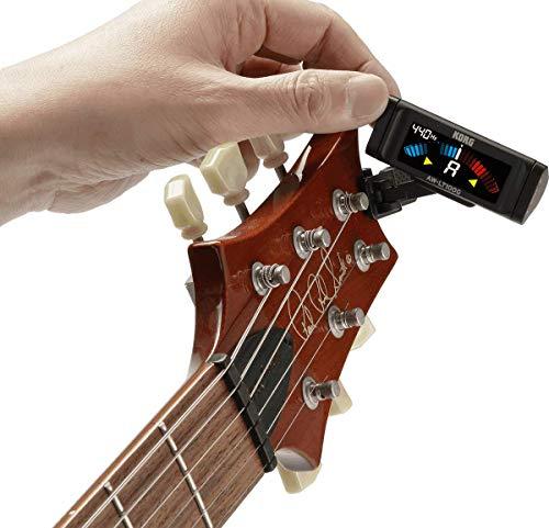 KORG100時間連続駆動ギター用クリップチューナーAW-LT100G±0.1セントの高精度カラー表示ストロボチューニング単4電池1本軽量コンパクト