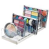 mDesign Porta trucchi in plastica – Organizer per cosmetici con 9 scomparti – Contenit...