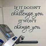 HNXDP Gym Wandaufkleber Wenn es Sie nicht herausfordert, wird es Sie nicht verändern Workout Room...