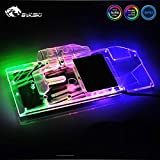 GPU Water Block Full-Cover Computer Water Liquid Cooling Graphic Card RGB LED Block Compatible with ASUS ROG Strix RTX 2080 TI O11G Gaming Back Plate