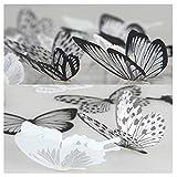 36 piezas 3D Etiqueta de la pared mariposa Muebles de bricol