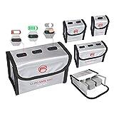 CUEYU Lipo Batterie Safe Bag Feuerfest Explosionsgeschützte für DJI Mavic Air 2 Batterie, Lipo...
