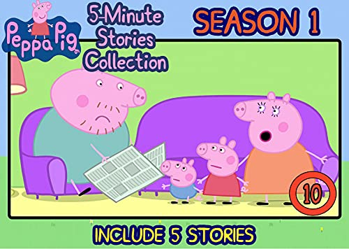 Peppa 5-Minutes Stories Collection Season 1: Vol 10 - Include 5 Stories - Great 5-Minutes Graphic Novel Read Along Short Stories Of Peppa Pig For Kids 2-4 , 4-6 ages By Picture Book (English Edition)