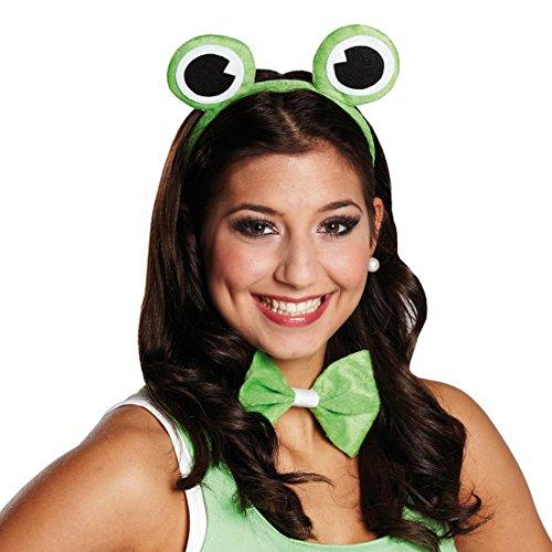 NET TOYS Frosch Kostüm Set Haarreif mit Fliege Froschkönig Haarreifen Froschkönigin Verkleidung