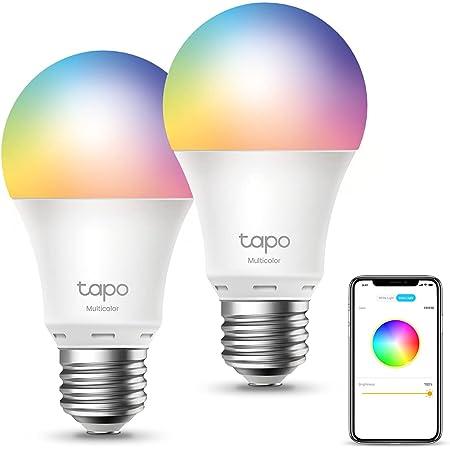 TP-Link Tapo Ampoule Connectée Wifi, Ampoule LED 8.7W 806Lm, RGBCW Multicouleur et Blanc Chaud, E27 Smart Ampoule compatible avec Alexa, Google Home et Siri, 2PCS [Classe énergétique A+](Tapo L530E)