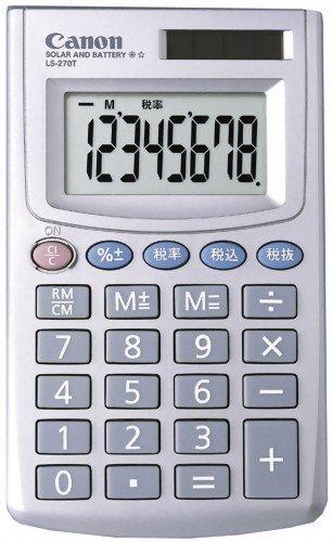 CANON ミニ手帳タイプ電卓(名刺サイズ) 8桁 LS-270T
