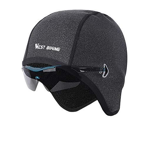 Winddichte Wintermütze Damen, Fahrradmütze unter Helm, Radsport Kopfbedeckungen für Herren, Fahrrad mütze für Fahrradhelm Skihelm Kletterhelm, Sport Mütze für Radfahren Skifahren Laufen Outdoor