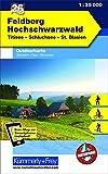 Feldberg - Hochschwarzwald, Titisee Nr. 26, Outdoorkarte Deutschland: 1:35 000, Mit kostenlosem Download für Smartphone: Titisee - Schluchsee - St. ... (Kümmerly+Frey Outdoorkarten Deutschland)