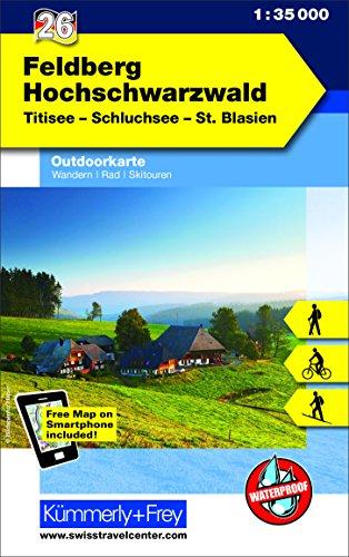 Feldberg - Hochschwarzwald, Titisee Nr. 26, Outdoorkarte Deutschland: 1:35 000, Mit kostenlosem Download für Smartphone (Kümmerly+Frey Outdoorkarten Deutschland)