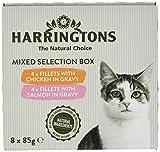Harringtons Pack de 4 Boites Nourriture pour Chat Saveurs Variés en Jus 8 x 85 g