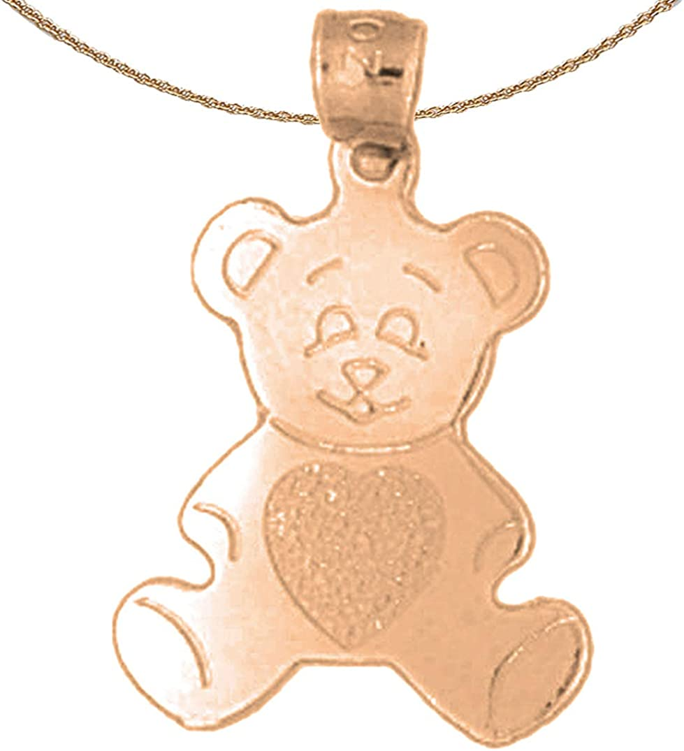Jewels Obsession ! Super beauty product restock quality top! Teddy Bear 14K Baltimore Mall Rose Necklace Gold