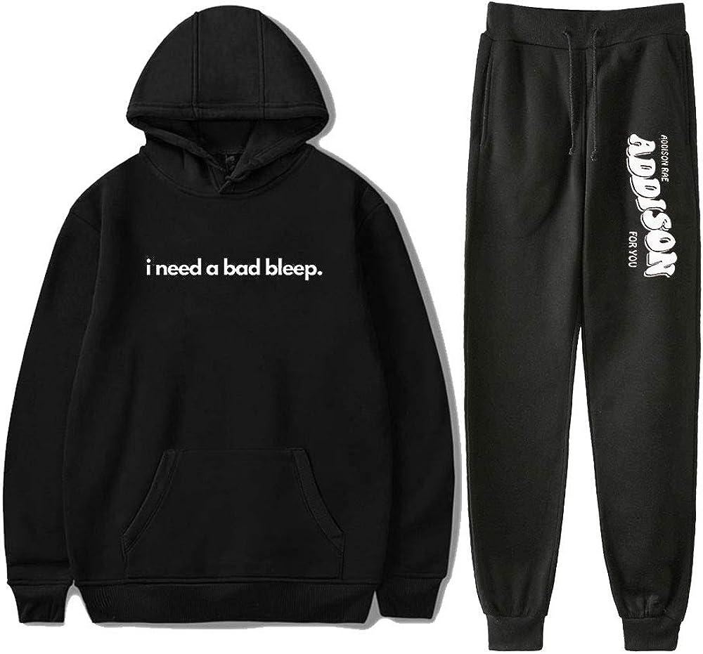 WAWNI Addison Rae: Limited price I Need A Hoodies Black Two-Pi Miami Mall Pants Bad Bleep