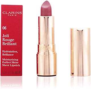 Clarins Joli Rouge Brillant Moisturizing Perfect Shine Sheer Lipstick, #06 Fig, 3.5g