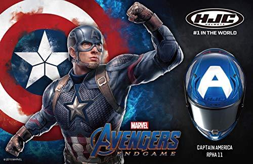 HJC Casco Rpha11 Capitán América Marvel Mc2 M 08M Mc2
