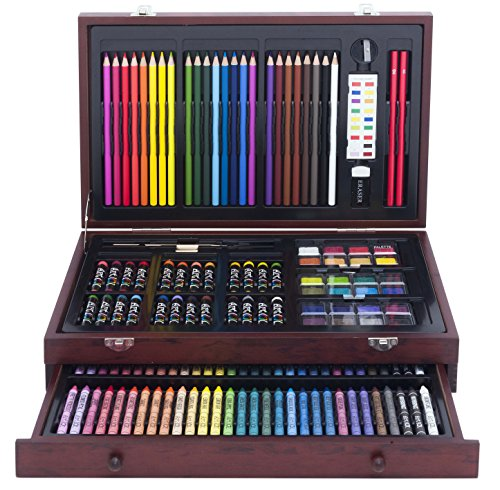 Art 101 142-Piece Wood Art Set Amazon...