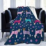 Nazi Mie Flannel Fleece Nice Throw Blanket, Fox Terrier Jack Russell Terrier Pijamas de Raza de Perro para Perros Mantas para Dormir Mejor Sala de Estar