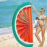 Deportes de Agua Inflable Flotador Grande Rebanada de la sandía Fruta Island Beach balancín Piscina Jumbo Mat Aire Juguete de la diversión Balsa Lilo, sandía Media