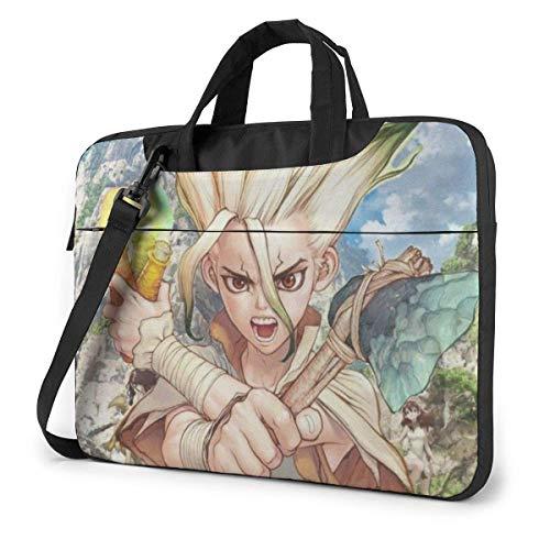 15.6″Lightweight Laptop Notebook Shoulder Backpack Bag Dr Stone Waterproof PC Briefcase Messenger with Strap