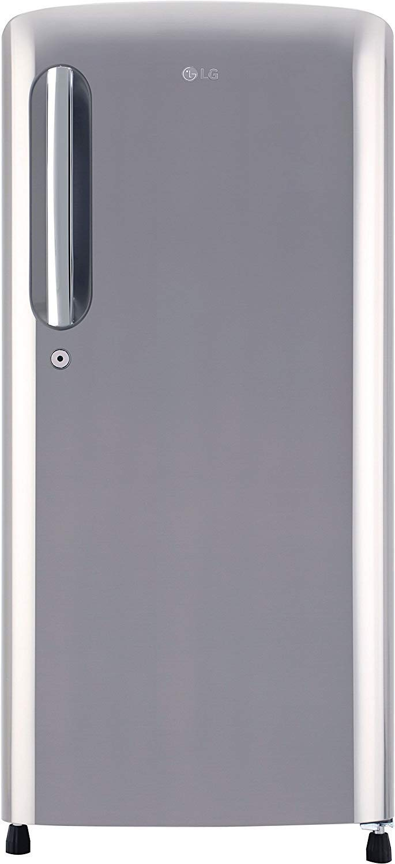 LG 190 L 4 Star Inverter Direct Cool Single Door Refrigerator(GL-B201APZY, Shiny Steel)