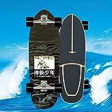 Land Surfskate Skateboard Completo Monopatín De 75 X 23 Cm, Carver Tabla De Madera Para Principiantes, Con Rodamientos ABEC-11, 9 Capas De Madera De Arce Y Ruedas 78A Para Niños, Jóvenes Y Adultos,B