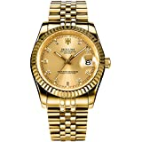 Men Gold Stainless Steel Watch...
