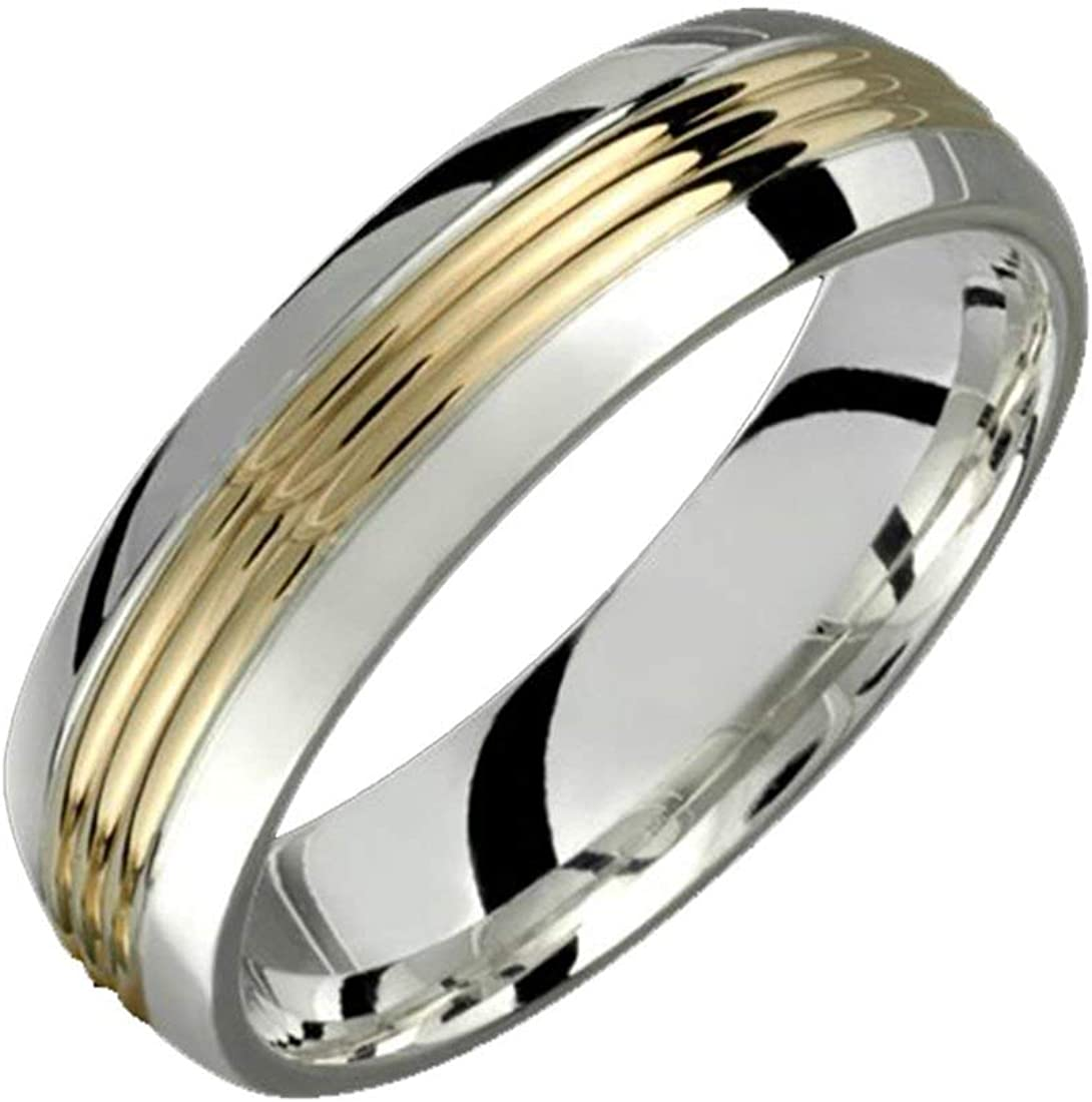 Tulsa Mall Alain Raphael 6 Millimeters Wide 2 Ring .925 discount Silve Tone Sterling