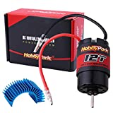 Hobbypark 12T Motor 550 Motor Brushed for 1/10 RC Car Truck Traxxas Slash 4x4 2WD Redcat Volcano EPX Arrma Granite AXIAL ECX Losi