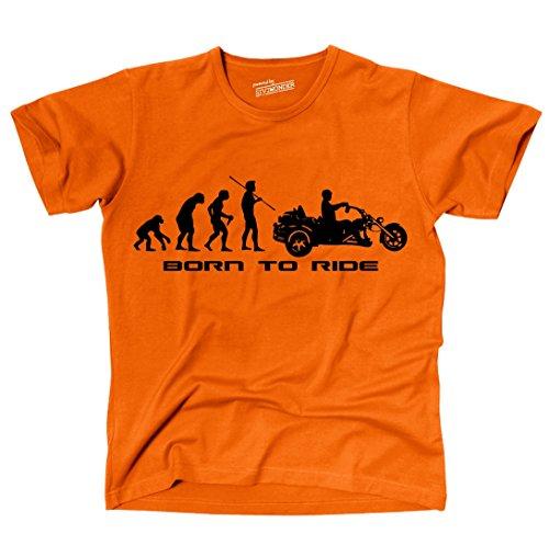 Siviwonder Unisex T-Shirt Trike Evolution Triker Motorrad lustig Sprüche orange XXL
