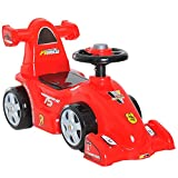 HOMCOM Coche Correpasillos Infantil Coche sin Pedales para Bebé Juguete Andador Estilo Carrera con Bocina 70.2x32.5x41cm