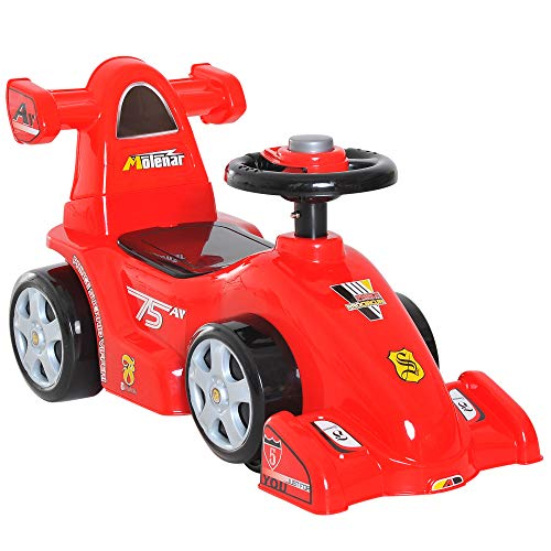 HOMCOM Toddler Kids Ride On Car Toy Boy Girl Push Along Walker Balance Toy Red