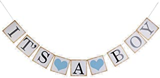 Pixnor IT IS A BOY Paper Garland Bunting Banner Christening Baby Shower Garland Decoration Birthday Party Favors Photo Prop