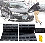 JOJOMARK Tire Traction Mat, Portable Emergency Devices for Snow, Ice, Mud, and Sand Used to Car, Truck, Van or Fleet Vehicle (2pcs39in)