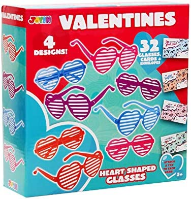 32 Valentines Day Shade Glasses for Kids Gift Cards with Heart Shaped Shutter Valentine Party product image