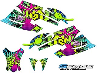 Compatible with Arctic Cat 2003-2004 Firecat/Sabercat Zany Green Graphics kit